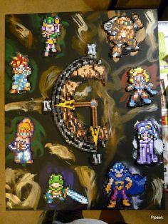 Chrono Trigger canvas perler art by Pipeek