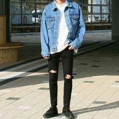 Korean Fashion Trends you can Steal – Designer Fashion Tips Grunge Outfits, Trendy Outfits, Cool Outfits, Fashion Outfits, Winter Outfits, Summer Outfits, Fashion Hacks, Vans Outfit Men, Mode Man