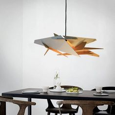 Pendant Light Wood Lamp Ceiling Fixture Dining Modern Chandelier Hanging Steampunk Wooden