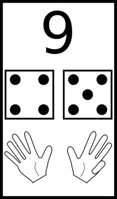 learn to count 09 - Numbers Kindergarten, Numbers Preschool, Kindergarten Math Worksheets, Teacher Worksheets, Math Activities, Preschool Activities, Kindness Activities, Teaching Kids, Kids Learning