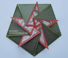 folded star card | card making day too this is my favorite card from this month