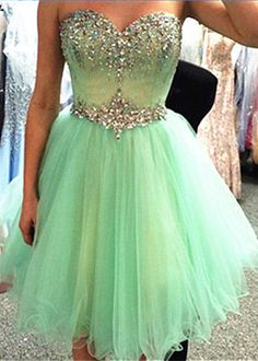 short homecoming dress, mint prom dress, cheap homecoming dress, junior…