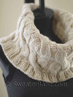#120 Double Cabled Cowl PDF Knitting Pattern Another awesome cowl with more cables! Yay! #SweaterBabeKnittingGiveaway