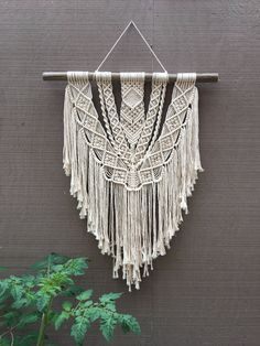 TAHITI •><• macrame wall hanging cotton rope bohemian boho decor by seafoxHOME on Etsy https://www.etsy.com/au/listing/516463850/tahiti-macrame-wall-hanging-cotton-rope