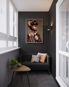 45 stylish gray living room ideas to inspire you 35 Small Balcony Decor, Balcony Design, Balcony Ideas, Living Room Grey, Living Room Decor, Home Office Design, House Design, Cozy Family Rooms, Balcony Furniture