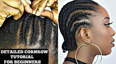 HOW TO CORNROW YOUR OWN SHORT NATURAL HAIR TUTORIAL [Video] - https://blackhairinformation.com/video-gallery/cornrow-short-natural-hair-tutorial-video/