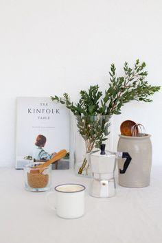 kinfolk still life props coffee