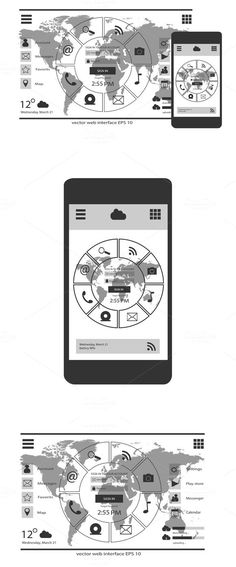 Mobile interface and web interface . Graphic Design Infographics. $10.00
