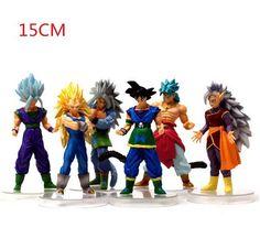 NEW Hot 6pcs/set 15cm Dragon Ball Z Super Saiyan vegeta Son Goku Kakarotto PVC Action Figure toys Christmas gift toy-in Action & Toy Figures from Toys & Hobbies on Aliexpress.com | Alibaba Group