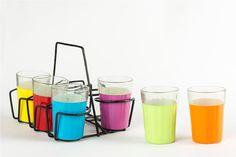 AKrazyMug #HoliColors #Theme Tapri Glasses: #Amazon.in: #Home & #kitchendesign - http://bit.ly/HoliColorsTheme  #handmade   #homedecor #homedesign #Glasses #Holi #Handcrafted