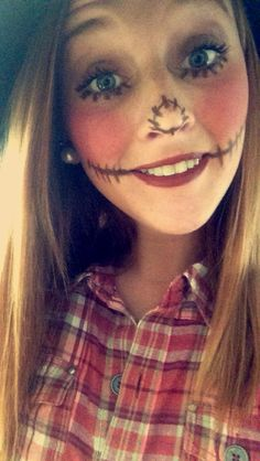 Cute Scarecrow Wallpaper | Scarecrow Face Makeup Scarecrow ...