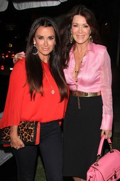 Kyle Richards and Lisa Vanderpump at a birthday event for Patti Stanger at Koi in West Hollywood.