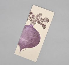 BEET LETTERPRESS NOTECARD, YEE-HAW Industries A10 SIZE :: HICKOREE'S