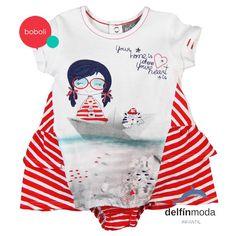 "Vestido de algodón niña BOBOLI marinero ""niña"""