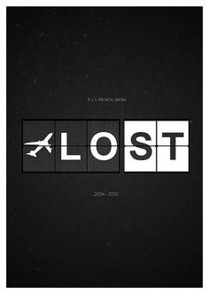 Lost Tv Show Poster Minimalist Art Print by AllGeekyPrints geekyprints.com