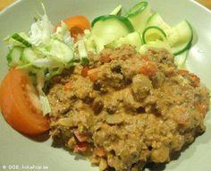 Recept - LCHF-Köttfärssås