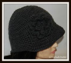 Delightfully Easy free Crochet Hat Patterns, for woman, with Step by step Photos included on how to Crochet a Hat. The more I crochet the more. Easy Crochet Hat Patterns, Crochet Adult Hat, Crochet Hat For Women, Crochet Cap, Single Crochet Stitch, Crochet Beanie, Diy Crochet, Crocheted Hats, Sombrero A Crochet
