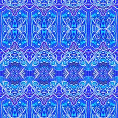 Gothic Blue and Not Quite White fabric by edsel2084 on Spoonflower - custom fabric