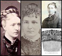 Antique hair comb Victorian mourning black by ElrondsEmporium
