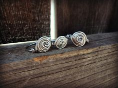 Anglo Saxon Spiral Love Knot Ring in STERLING by TheWellAndSpindle