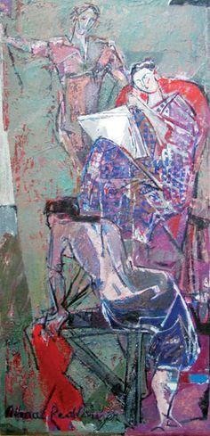 Alma Redlinger - Atelier 2007 Artist, Painting, Stuff Stuff, Atelier, Artists, Painting Art, Paintings, Painted Canvas, Drawings