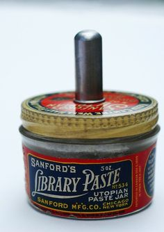 What is library paste? How does it differ from other paste?|Vintage Library Paste container