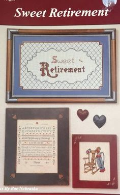 Sweet Retirement Cross Stitch Pattern Charts for people who are retiring