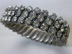Vintage Rhinestone Expansion Bracelet  by ChicAvantGarde on Etsy, $25.00