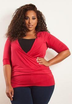 plus-size-fashion red