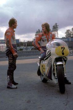 "tulikas: "" Boet van Dulmen and Jack Middelburg "" – Spor Middlesbrough, Moto Guzzi, Jumping Jacks, Road Racing, Race Cars, Nostalgia, Van, Bike, Classic Motorcycle"