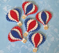 Hot air balloon appliques - for embroidery hoop wall art in the baby's room