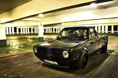 Black on black Vw Caddy Mk1, Caddy Van, Vw Mk1, Volkswagen Caddy, Volkswagen Golf, Mini Trucks, Cool Trucks, Vw Pickup, Tuner Cars