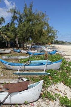 Pirogues on the beach of Mitsamiouli, Comoros | Raphael Bick, via Flickr