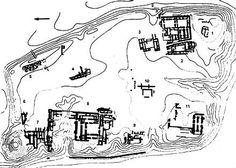 Planta Palacio Kalah (Nimrud), S IX a.C. Parte inferior izquierda. El palacio de Asurnasirpal II o del Noroeste ocupaba una  extensión de 200 x 130 m. Tenía un área administrativa (babanu), una residencial (bitanu) y una de carácter representativo, presidida por el salón  del trono. Tenía dos patios rodeados de estancias y separados por el salón del trono: el babanu y el bitanu. Este palcio incorporó una novedad en la decoración escultóric, grandes bloques de peidra con relieves, los…