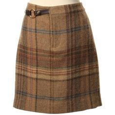 Pre-owned Checkered skirt wool (285 BRL) ❤ liked on Polyvore featuring skirts, black, ralph lauren skirts, checkered skirt, checkerboard skirt, colorful skirts and zipper skirt