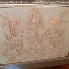 Denise Marie Saylor Fine Arts - Royal Design Studio #royaldesignstudio - Toulouse Classic Panel and Micah Classic Panel Furniture Stencils and Chalk Paint
