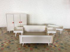 Vintage schlafzimmermöbel ~ Er er jahre retro bett vintage style mit lattenrost ebay