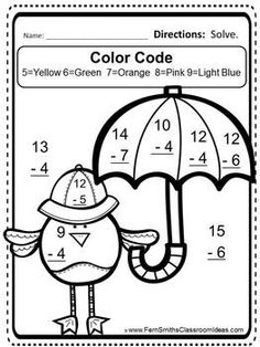 Fern Smiths Classroom Ideas FREE Mixed Subtraction Spring Task Cards And Printable