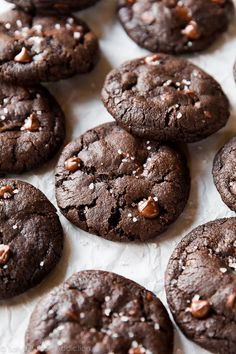 Salted Dark Chocolate Cookies   Sally's Baking Addiction