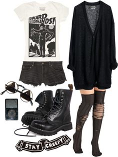 """""""B.L.A.C.K"""" by noirsilhouette on Polyvore"""