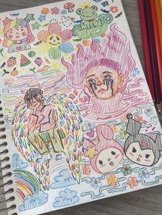 Doodle Sketch, Sketch Drawing, Drawing Art, Drawing Ideas, Art Sketches, Indie Drawings, Fall Drawings, 90s Girl, Indie Art
