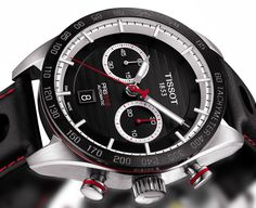 The new Tissot PRS 516 chronograph watch with images, price, background, specs, & our expert analysis.