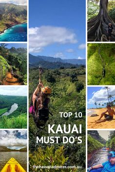 Top 10 Kauai Must Do's A shortlist of my all-time favourite things to do on Kauai. Unwind on a Mountain Tubing adventure, river kayak through the great outdoors & more. The Hawaii Admirer's Top 10 Kauai Must Do's! Kauai Vacation, Hawaii Honeymoon, Hawaii Travel, Vacation Trips, Vacation Spots, Travel Usa, Travel Europe, Travel Bags, Disney Travel