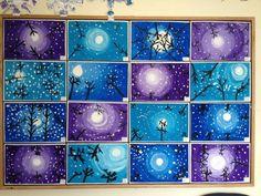 Arts And Crafts Festivals Near Me #ArtsAndCraftsOwl Key: 1844097798 Classroom Art Projects, School Art Projects, 3rd Grade Art, Grade 2, Winter Art Projects, Cricket, Light Fixture, Middle School Art, Art Lesson Plans, Art Children, Seasons Of The Year, Work Of Art, Art Designs