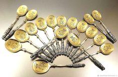 Редкость! Серебро 950! Антикварный королевский набор десертных ложек – купить в интернет-магазине на Ярмарке Мастеров с доставкой - F8F7FRU | Ванкувер