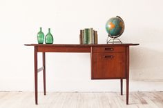 Teak  Slate Mid Century Desk by OtherTimesVintage on Etsy, $750.00