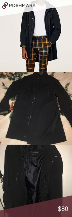 Zara Mens Trench Coat Overcoat, worn once- doesn't quite suit me. Its a size medium trench coat that has a more formal and sleek look. Bought it online for $170 on Zara.com. Zara Jackets & Coats Trench Coats