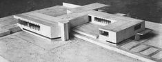 Ludwig Mies van der Rohe (German-American, 1886-1969) | Maquette | Project for a concrete country house