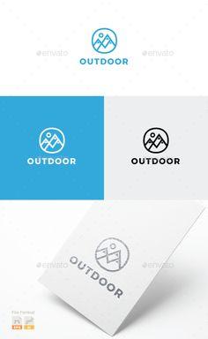 Buy Mountains Logo by Logolover on GraphicRiver. Mountains logo template fully customizable and resizable. Logo Design Template, Logo Templates, Logos Photography, Logos Vintage, Logos Ideas, Mountain Logos, Geometric Logo, Travel Logo, How To Make Logo