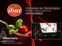 ibsabierzo estará en #Alimentaria 2016, esperamos vuestra visita #salsadetomate #recetasCaseras #pimientosAsados #cebollaCaramelizada #conservamoslanaturaleza